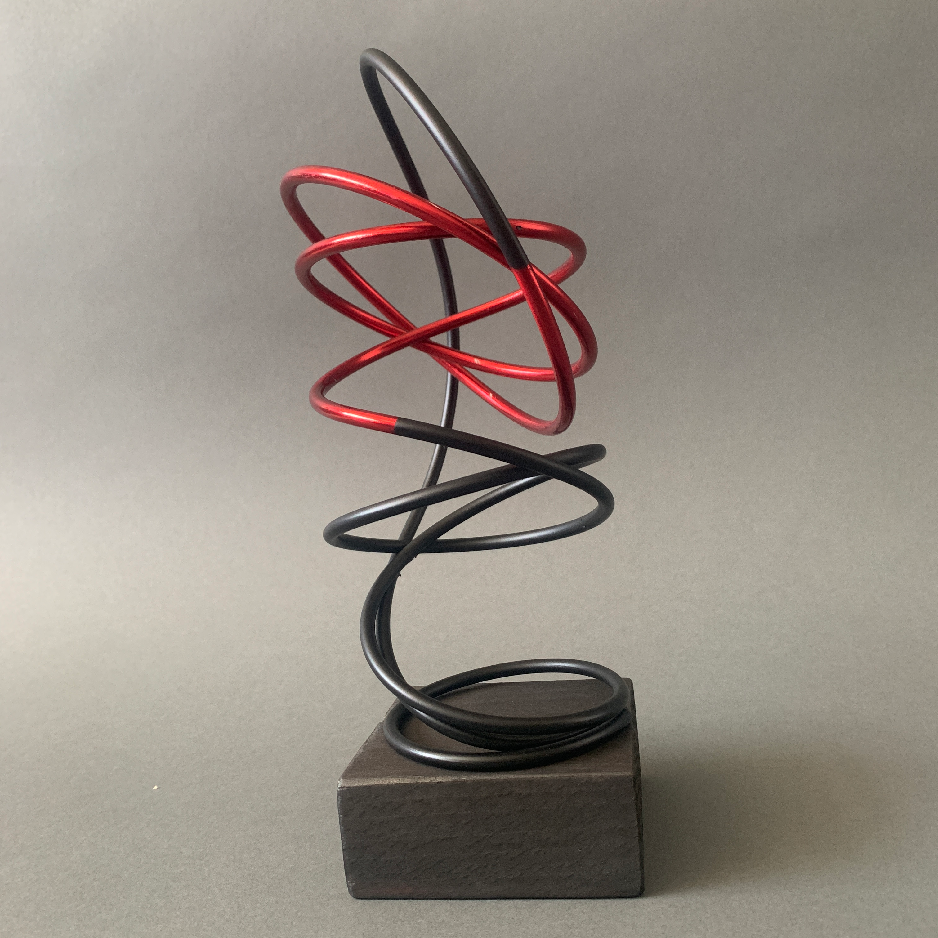 Red in Black Spiral III