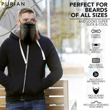 Load image into Gallery viewer, Beard Face Mask | 3 Layer Bandana Face Mask with Filter Pocket | Beard Mask | Charcoal Filters & Aromatherapy Discs