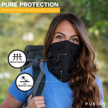 Load image into Gallery viewer, Neck Gaiter dust, wind, sun face mask Multi-use comfortable stretch fabric with sewn edge, UV protection