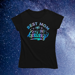 "Load image into Gallery viewer, ""Best Mom in the Galaxy"" Holographic Smart Shirt"