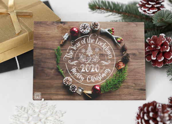 Smart Postcard  - Christmas Lockdown Wreath 2020