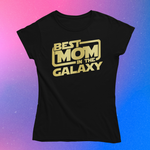 "Load image into Gallery viewer, ""Best Mom in the Galaxy"" Gold Smart Shirt"