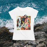 "Load image into Gallery viewer, ""Blue Sunset"" by Kat Reeder Smart Shirt (Women's)"