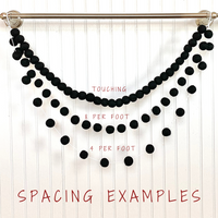 Black & Pumpkin Garland