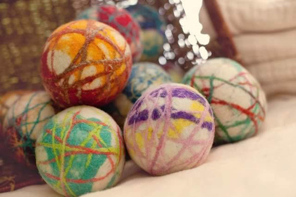 Tie Dye Stripe Dryer Balls - Redheadnblue