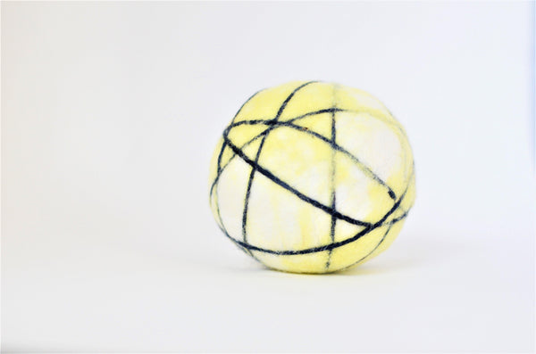 Yellow Stripe Dryer Balls - Redheadnblue