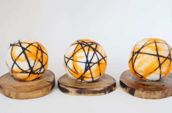 Orange Stripe Dryer Balls