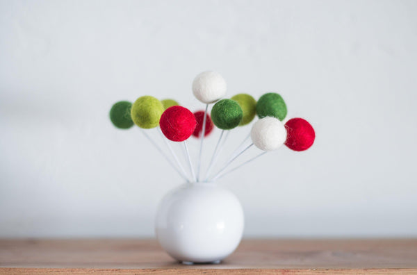 Christmas Favorite Felt Ball Bouquet