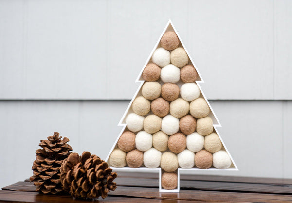 Neutral Felt Ball Tree