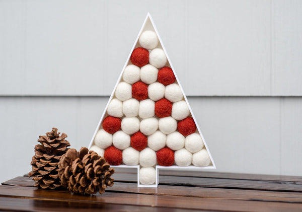 White & Red Christmas Tree