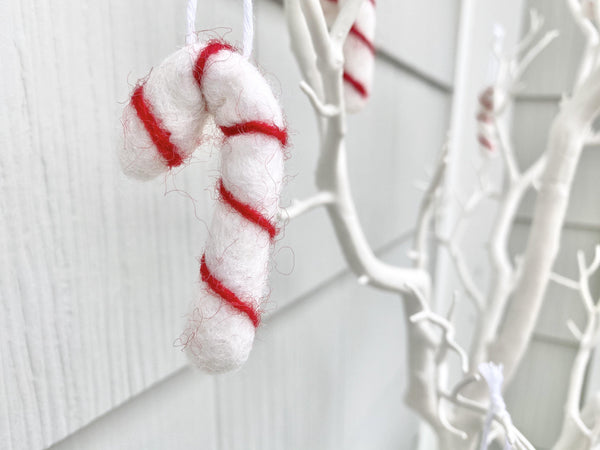 Candy Cane Felted Ornaments