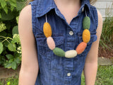 Fall Colors Felt Oval Necklace