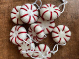 Peppermint Felted Ornaments