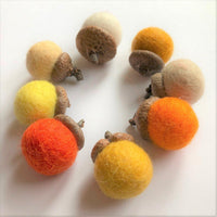 Oranges Wool Acorns