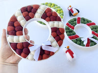 Shades of Red Felt Ball Wreath