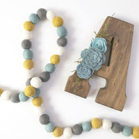 Baby Blue & Gold Garland