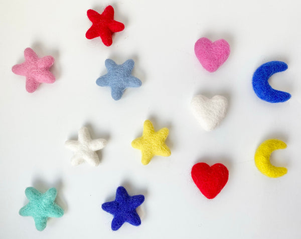 Heart, Moon and/or Star Kicker Toys