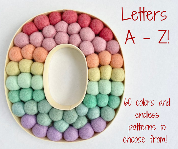Wooden Alphabet Letters A - Z and & - Wool Jamboree