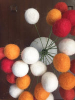 Harvest Colors Felt Ball Bouquet - Redheadnblue