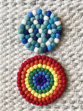 Rainbow Trivet &/or Coaster - Redheadnblue