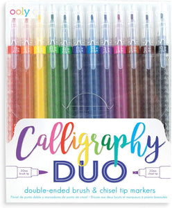 Calligraphy Duo Double Ended Markers- Set of 12