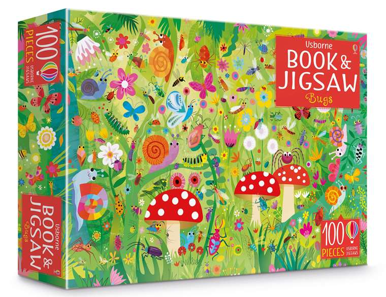 Bugs Book and 100 Piece Jigsaw Puzzle