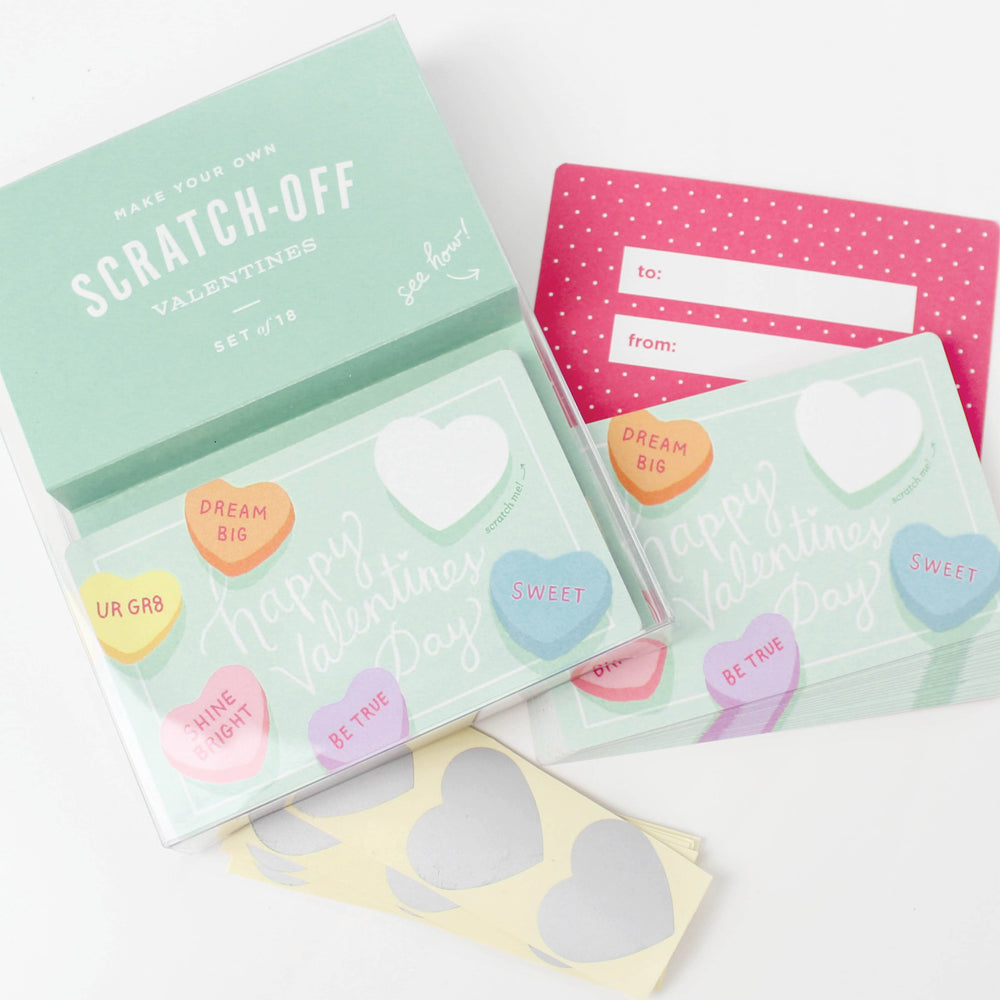 Sweetheart Scratch-Off Valentines (set of 18)