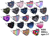 Children's Masks Assortment (3-7)- 40 patterns to choose from!