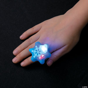 Snowflake Light Up Rings