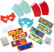 Load image into Gallery viewer, Superhero Mask and Cuffs Craft Kit