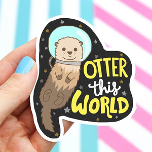 Otter this World Vinyl Sticker
