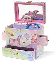 Party Unicorn Musical Jewelry Box-3 Pullout Drawers