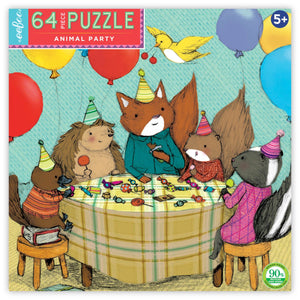 Animal Party 64 Piece Puzzle