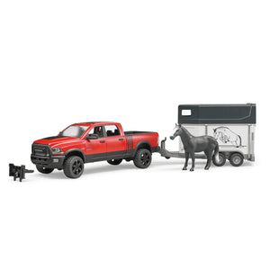 Bruder RAM Truck with Horse Trailer and Horse