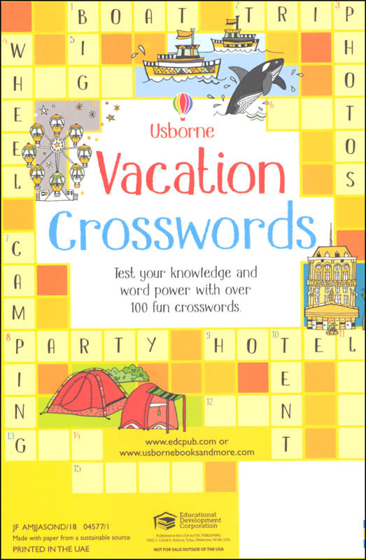 Vacation Crosswords