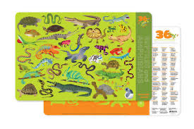Reptiles and Amphibians Placemat