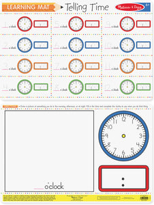 WRITE A MAT TELLING TIME