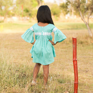 Fairies Forever High Low Turquoise Top and Short set