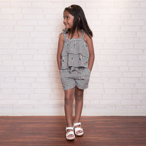 Fairies Forever Black Lines Shorts and ToP Set