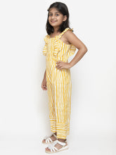 Load image into Gallery viewer, Fairies Forever Yellow Lines Stylish JumPsuit
