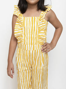 Fairies Forever Yellow Lines Stylish JumPsuit