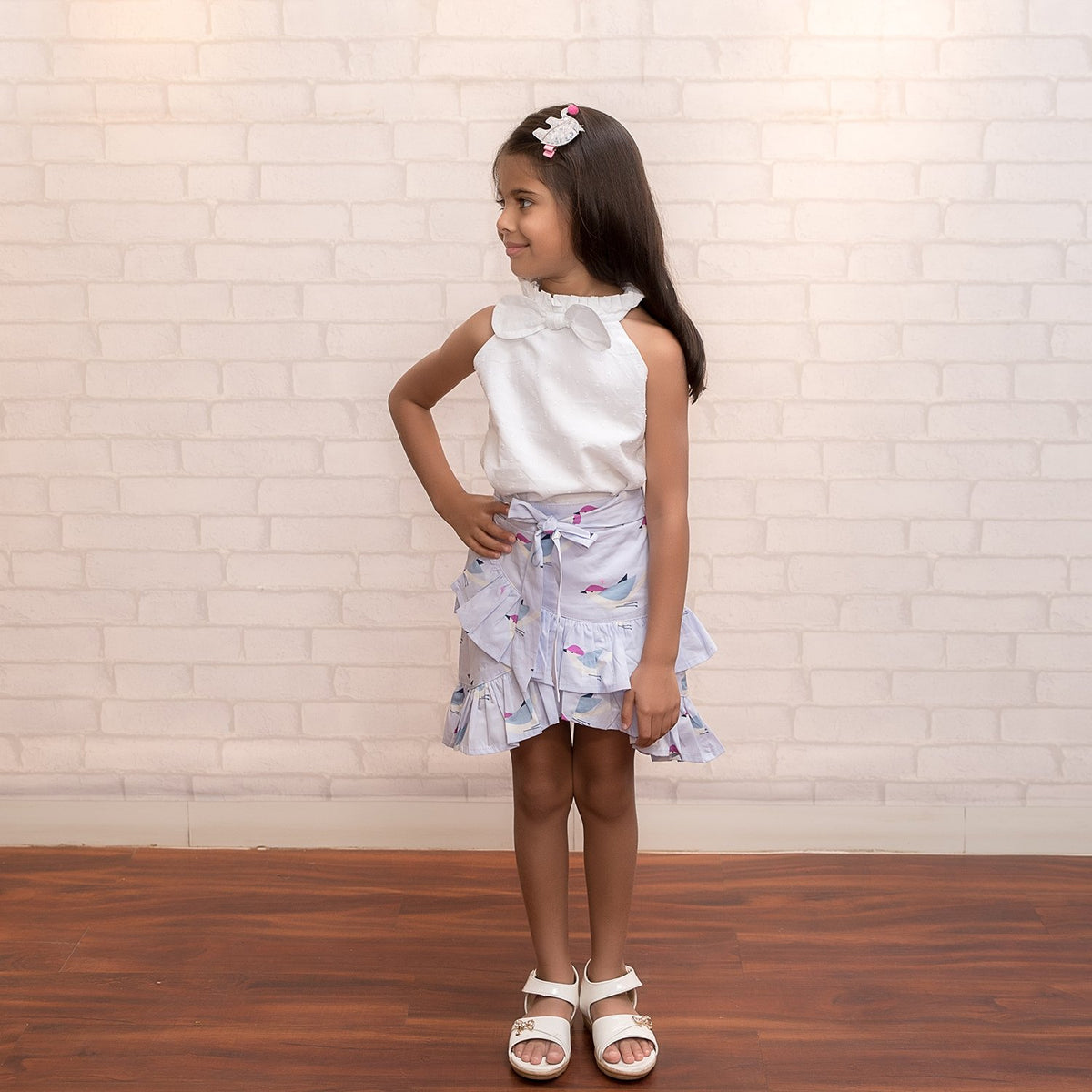 Fairies Forever Halter Top with Birdie Print Skirt