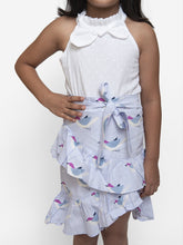 Load image into Gallery viewer, Fairies Forever Halter Top with Birdie Print Skirt