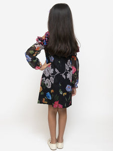 Fairies Forever Floral Black Dress