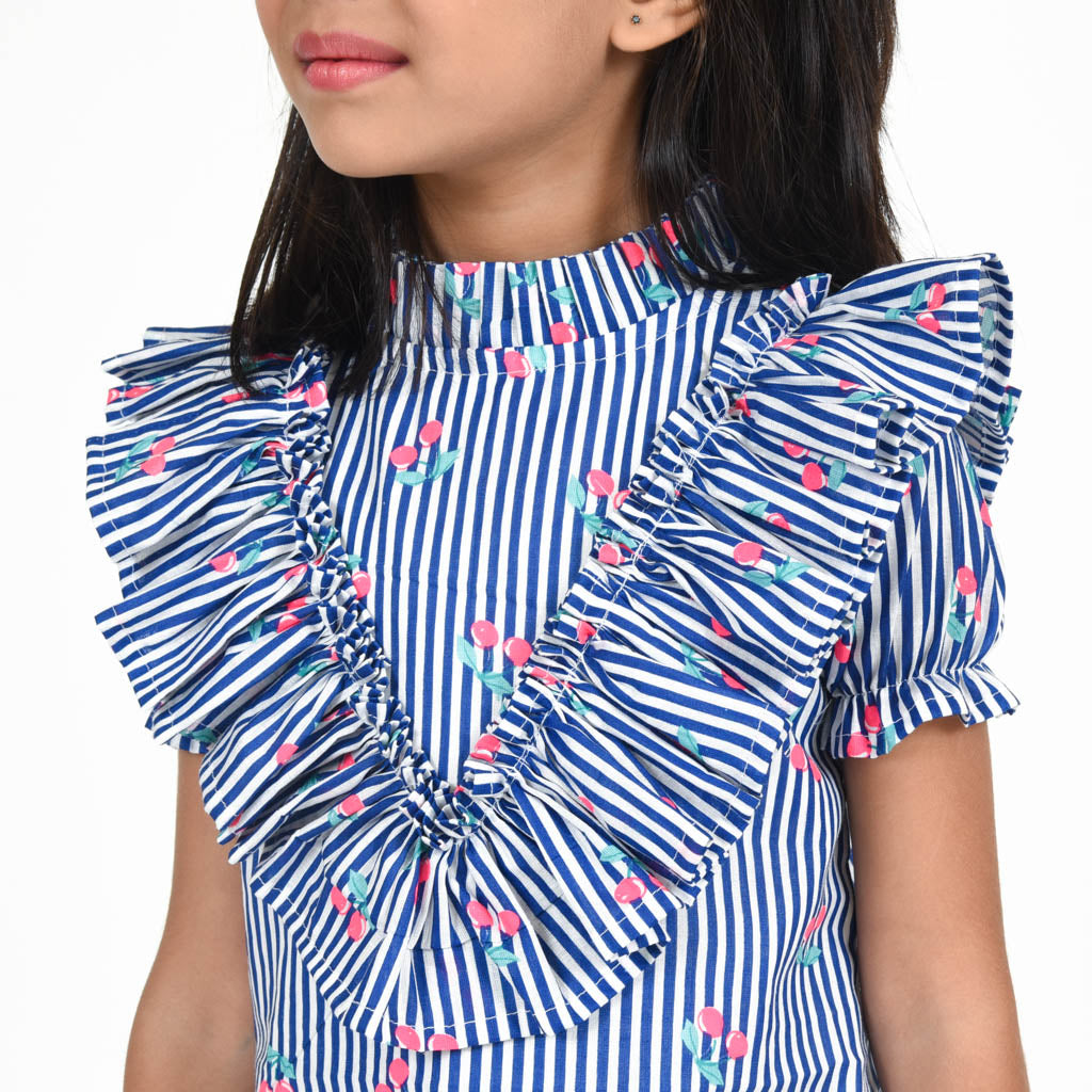Blue Stripes A-line Dress