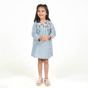 Fairies Forever Oxford dress full Sleeves with Embroidery