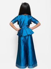 Load image into Gallery viewer, Fairies Forever Blue Peplum Top with Palazzo
