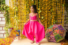 Load image into Gallery viewer, FAIRIES FOREVER Dhoti style Jumpsuit-Pink