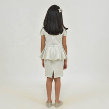 Load image into Gallery viewer, Fairies Forever White PePlum Style Party Dress