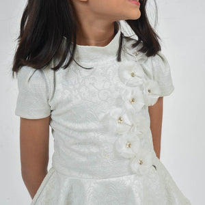 Fairies Forever White PePlum Style Party Dress